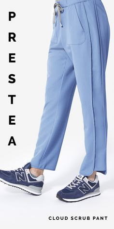 The Prestea Cloud Scrub Pant is light, airy and features sporty side panels, stylish curved hemlines and two large hand pockets with a hidden interior security pocket. Fashion Boots, Fashion Vest, Womens Fashion, Sport Casual, Casual Wear, Women's Fashion Dresses, Fashion Clothes, Scrub Pants, White Women