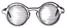 Glasses illustration.  #fashionillustration