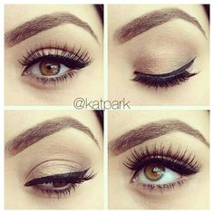 A neutral eyeshadow look that can manage to make all eye colors appear more vibrant and bright. It gives the sultry illusion of mystery, but isn't as harsh as a smokey eye. - I'm just in love with natural eyes. Gorgeous Makeup, Pretty Makeup, Love Makeup, Makeup Tips, Makeup Looks, Makeup Ideas, Makeup Tutorials, Makeup Quiz, Beautiful Gorgeous