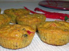 Muffinki z serem feta, pieczarkami i papryką - Przekąski na Imprezę