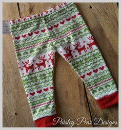 Baby Children Handmade Fair Isle Holiday by PaisleyPearDesignsMT, $16.00