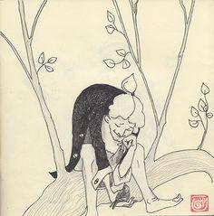 Tonka Uzu, sketchbook image, Il Barone Rampante