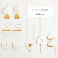 white porcelain and gold jewellery; loumi