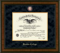 Name /& Tassel Graduation Diploma Frame Gold Accent Gloss Mahogany 20 x 20 Signature Announcements University-of-Idaho Doctorate Sculpted Foil Seal