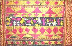 667 Antique Indian textiles Sar Pallu Bagh Phulkari Wedding Shawl - Silk Embroidery Punjab on http://WOVENSOULS.COM #antiquetextiles #textileart #decor #interiors #artgallery #style #accent #wallart #gallery