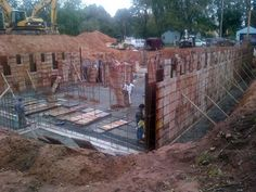 October 8th 2012 - The forms are put in place to pour the concrete for the foundation walls.