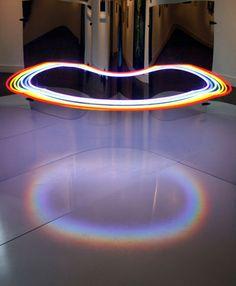 Steven Morgana's optical installation.