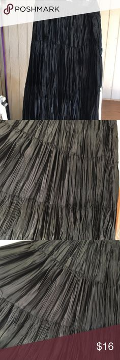 """Black satin feel, 3 tier skirt BEAUTIFUL feel and look! Approximately 24-25""""long Skirts"""