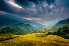 """Mountain Storm, Sapa, Vietnam,  by Dan Ballard"