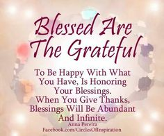 Blessed are the Grateful