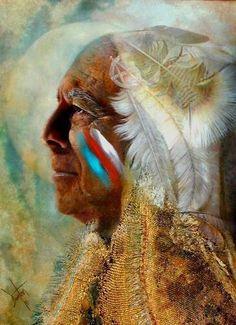 Wicasa Wakan (Holy Man) An Original Mixed Media Painting by Denton Lund Native American Prayers, Native American Spirituality, Native American Images, Native American Wisdom, Native American Beauty, Native American Artists, American Indian Art, Native American Beading, Native American History