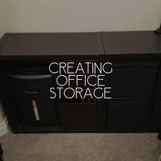 IKEA Hack for creating office storage for work and leisure fusion together 2 different IKEA units to create a great space to storage payout essentials #houseprojects #IKEAhack #homeoffice