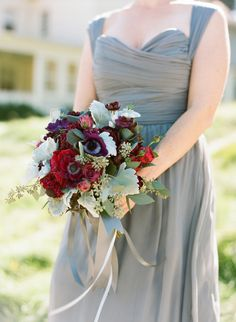 Marsala-hued blooms: http://www.stylemepretty.com/california-weddings/sausalito/2015/10/06/elegant-late-summer-wedding-at-cavallo-point/ | Photography: Josh Gruetzmacher - http://www.joshgruetzmacher.com/