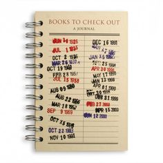 book cover: Books to Check Out: A Journal spiral bound book reading journal