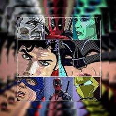 Today's artist repost goes out to @fanboy_museum who does these absolutely incredible pop art pieces! Make sure to check out his feed for more awesomeness because as epic as these ones look they're just close-ups .      #popart #comicart #dc #marvel #doctorwho #batman #superman #deadpool #ironman #CaptainAmerica #gamora #colossus #green #red #blue  #followhim #follow #instalike #instagood #instagram #instagallery #artist #art #artlife #feature #instacollage
