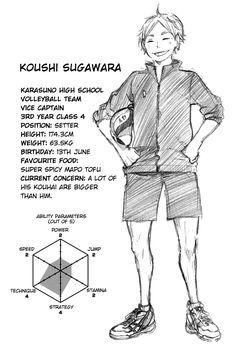 Haikyuu Profiles- Suga-san (Karasuno, uniform number 2)