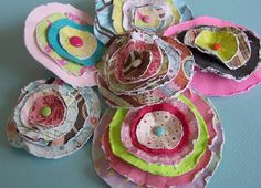 Paper flowers by Jackie62