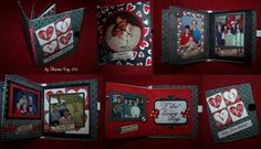I created this mini book in lieu of a card for our 28th wedding anniversary.  Kit: Everyday I do by Traci Reed  Font: DJB At the Abbey - Dow...