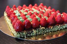 Surprises et gourmandises - Tarte fraise/pistache façon Christophe Michalak