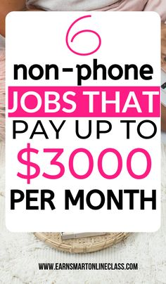 Are you a work-at-home mom or dad in need of non-phone work from home jobs? Get this list of 70 work at home jobs that don't require you being on the phone! You set your own working hours and you can work whenever you want. by EarnSmartOnlineClass Read Earn Money From Home, Way To Make Money, Make Money Online, Quick Money, Money Fast, Stay At Home Mom, Work From Home Moms, Work At Home Jobs, Online Jobs From Home