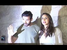 John Abraham with wife Priya Runchal at the screening of FORCE 2 movie. John Abraham, 2 Movie, Gossip, Interview, T Shirts For Women, Music, Youtube, Pictures, Musica