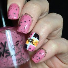 Foxy Paws Polish - Just a Meaningless Kiss (Glow-in-the-dark polish. Swatch and incredible nail art by @tipsandtopcoat)