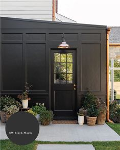 12 Dark Exterior Paint Colors We're Loving-In Action! - Chris Loves Julia Black Exterior, Exterior Siding, Exterior Colors, Exterior Design, Exterior Paint Colors For House, Rustic Houses Exterior, Dark House, Fresh Farmhouse, White Farmhouse