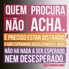 """@instabynina's photo: """"Nem esperar, nem desesperar... Grande Caio Fernando Abreu! #cfa #caiofernandoabreu #frases #citações #esperar #instabynina"""""""