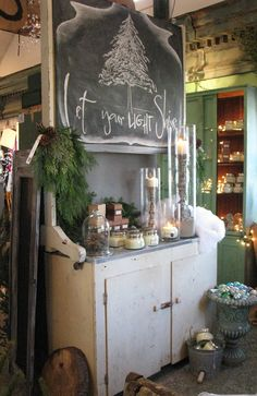 sisters garden - love the chalkboard
