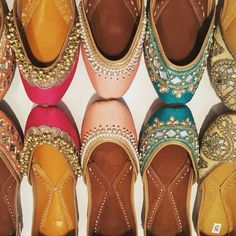 The Maharani Jutti collection by Tyche London available to buy at www.tyche-London.com Punjabi Juttis, Pearls, mirror work, mojeh, khussas, Indian wedding, Indian shoes, bridal ideas, wedding ideas