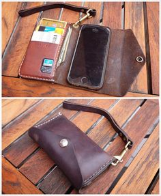 Couple years old #iphone #wristlet in #Horween natural #Chromexcel. #wallet #style #handmade #etsy #etsyfinds #etsyshop #leather #leathergoods #onestarleather by onestarleather #tailrs