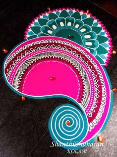 28 ideas simple art prints colour for 2019 Rangoli Patterns, Rangoli Ideas, Rangoli Designs Diwali, Dorm Canvas Art, Sanskar Bharti Rangoli Designs, African Art Projects, Rangoli Designs For Competition, Abstract Art For Kids, Paisley Art