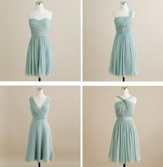 J.Crew Bridesmaid Dresses | Dusty Shale..maybe let you girls choose the dress style you like best :)