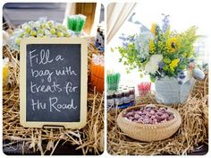 fun rustic candy display!