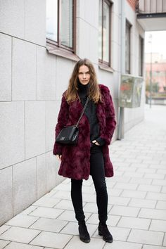 BURGUNDY BY CAROLINE BLOMST | ANAAGA | Shop Real Shearling Coat, Leather Jackets for men and women