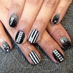 black and white with studs