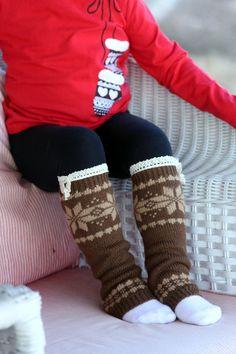 Kids leg warmers Girls Boot Cuffs winter Socks by LoveBeeShop