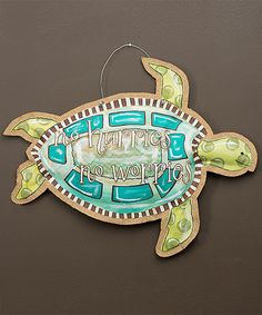 this was so made for me....no hurries!! This Sea Turtle Wall Art is perfect! #zulilyfinds