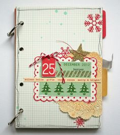 Nicole Harper shares pages from her Very Merry December Mini-Book Kit