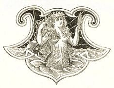 Free Antique Clip Art - Beautiful Mermaid - The Graphics Fairy also available in black