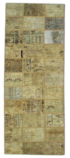 Orientteppich Patchwork Vintage Handgeknüpft 320 x 80 cm orientar la alfombra