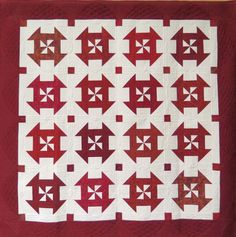 """Red & White Delight"", Victoria Quilters' Guild (BC, Canada)"