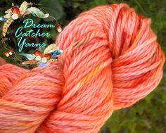 Hand Dyed Yarn SPICE RUB SW Merino Bulky LongTrail 106y Spicy Warm Orange  #DreamCatcherYarns #HandPaintedDyed
