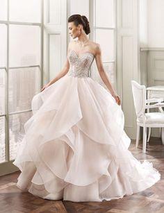 glamorous ballgown Eddy K wedding dress