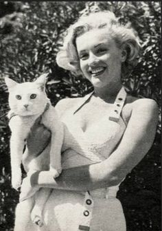 Marilyn Monroe Cat Lady, this would be a perfect print for me at my place