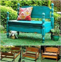 Bricolage-comment transformer un vieux lit en un charmant banc?