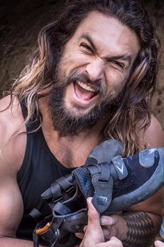 Literally Just 14 Snaps of Jason Momoa Rock Climbing, Because You Deserve It