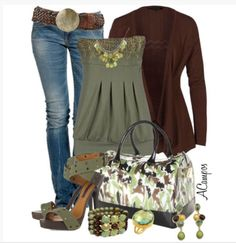 Outfit inspiration: top tube top strapless beading empire waist jeans belt cardigan burgundy olive peep toe strap