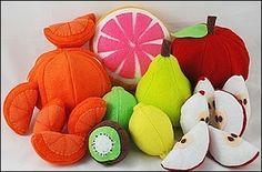 Fun Fruit Felt Food Patterns & Instructions