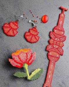 Etre dans le rouge.... #jenfiledesperlesetjassume #miyukiaddict #peyote #handmade